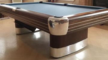 Restored Anniversary antique billiard table
