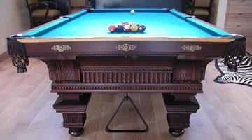Restored Jewel antique billiard table
