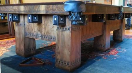 After restoration, a stunning Alexandria pool table