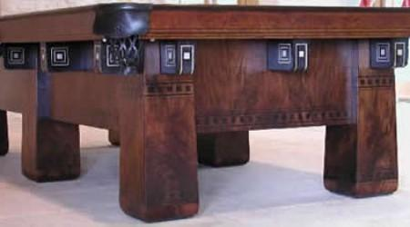 Restored antique billiard table, The Alexandria