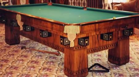 The Alexandria, restored antique billiard table