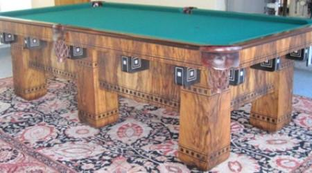 The Alexandria, a fully restored antique billiard table by Billiard Restoration Service