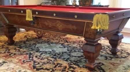 Restored antique billiards table, The Eclipse