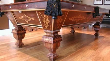 "Restored antique ""The Eclipse"" pool table"