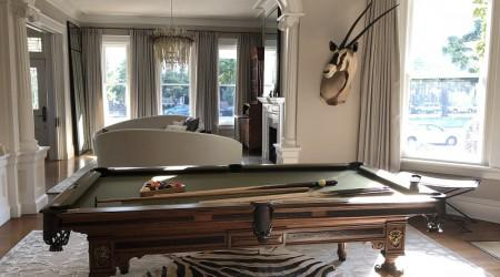 "Fully restored antique ""European II"" billiards table"