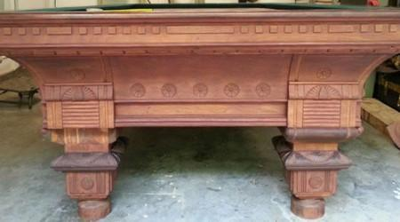 Fully restored antique European III billiards table