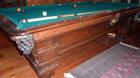 Restored antique European III pool table by Billiards Restoration Service