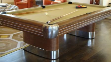 Restored antique Anniversary billiards table
