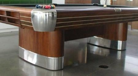 Side view - The Anniversary antique billiards table