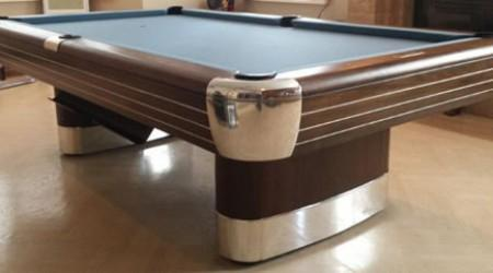 A fully restored antique pool table by Billiard Restiration: The Anniversary