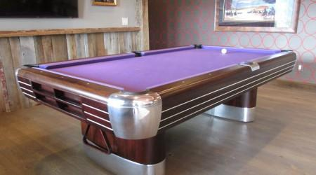 Restored antique pool table: The Anniversary