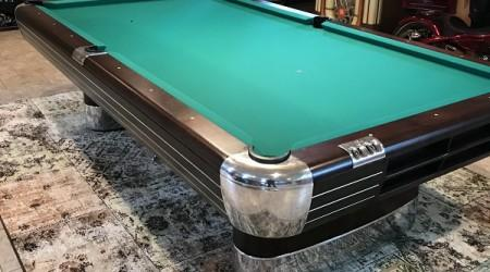 "Restoration of antique Brunswick ""The Anniversary"" billiards table"
