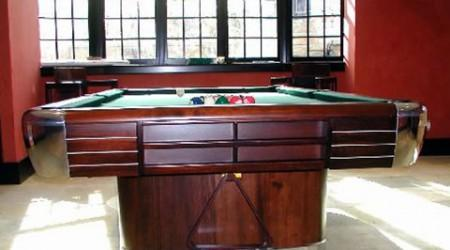 Restored antique pool table, The Anniversary by Brunswick