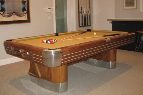 Brunswick Balke Collender Cos The Anniversary Billiard Pool Table - Pool table resurfacing cost