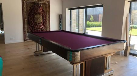 Professional restoration: Exposition billiards table