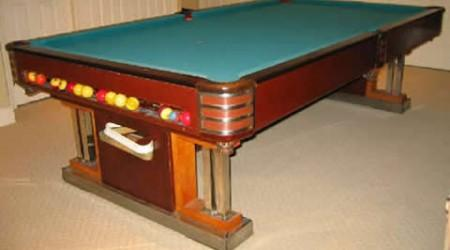 Restored Exposition, antique pool table fully restored