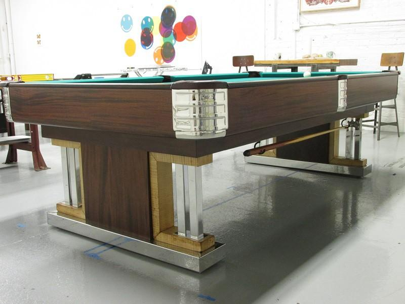 The exposition original brunswick restored pool tables for 10 pool table