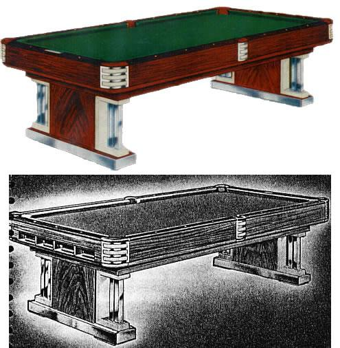 The Exposition Original Brunswick Restored Pool Tables - Chrome pool table