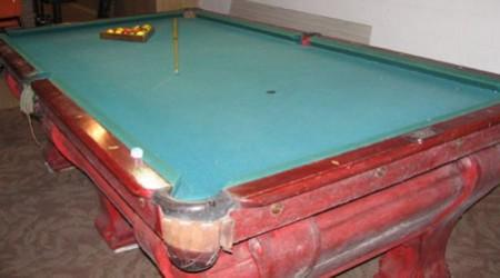 Pool table antique, the F.X. Ganther