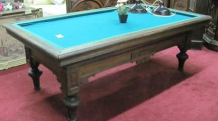Before restoration  The G. Lambrechts billiard table