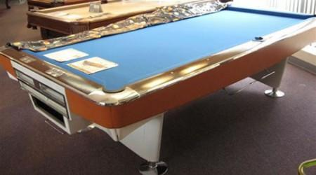 Gold Crown I, fully restored antique pool table