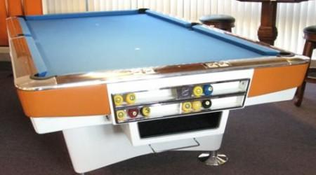 restored Gold Crown I, antique pool table