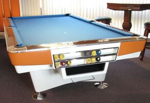 ... Restored Gold Crown I, Antique Pool Table ...