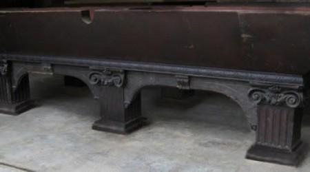 A Goodman-Leavitt-Yatter billiard table before restoration