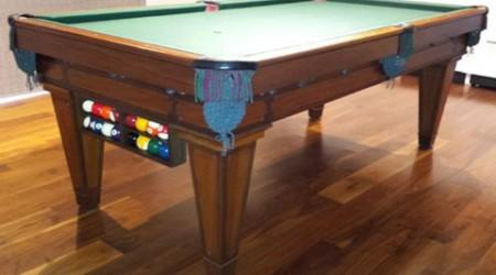 The Grand, restored antique pool table