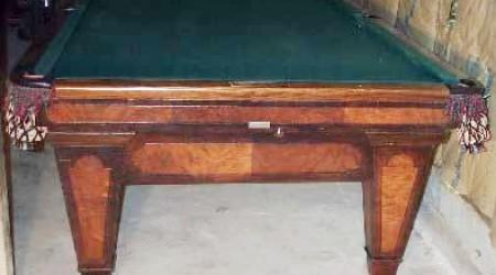 The Grand, fully restored antique billiards table