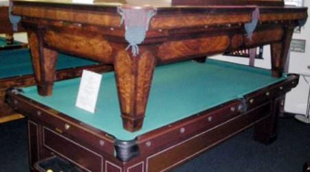 The Grand, a restored antique billiards table