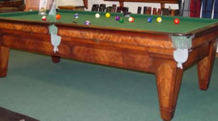 The Grand, a fully-restored antique billiards table