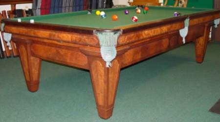 Antique fully-restored pool table The Grand