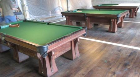 Top view: The Arcade pool table