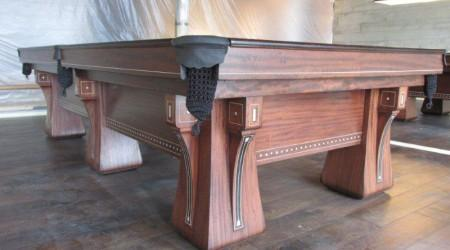 Restored antique billiards table, The Arcade