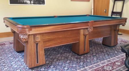 Antique Arcadian billiards table