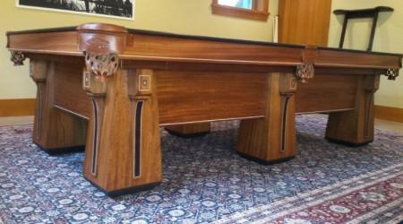 Restored antique Arcadian billiards/pool table