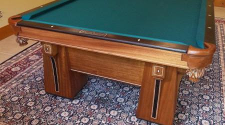 Arcadian antique billiards table, fully restored