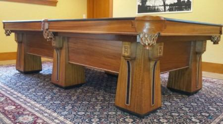 Restoration piece: Arcadian billiards table