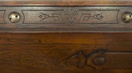 Side carvings, H.W. Collender Spoon Carved billiards table