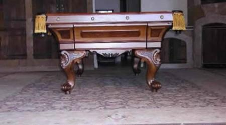 Restored August-Jungblut, restored antique pool table
