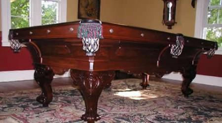 Restored August Jungblut billiard table