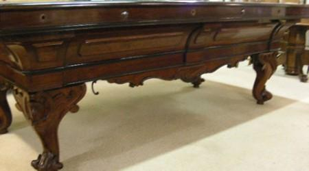 Jacob Strahle Standard restored pool table, antique