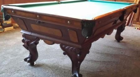 The August Jungblut California - Restored Antique Pool Table