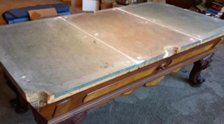 Installing The August Jungblut California - Fully Restored Antique Billiard Table by Billiard Restoration Service