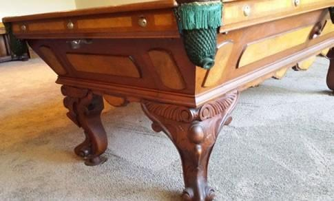 The August Jungblut California Antique Pool Table Restored ...