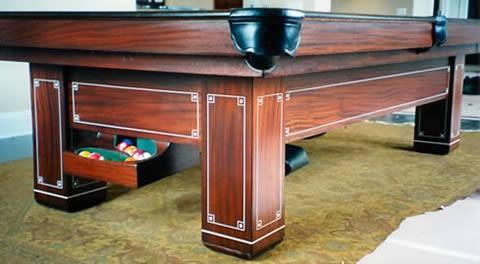 restored jefferson brunswick pool table