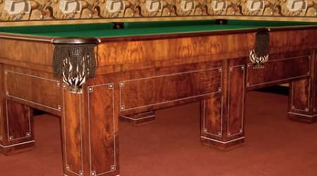 Jefferson II restored antique pool table