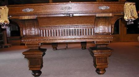 Oak Version: The Jewel, Restored Brunswick antique billiards table