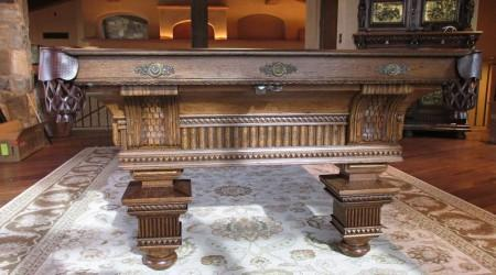 The Jewel: Restored antique billiards table